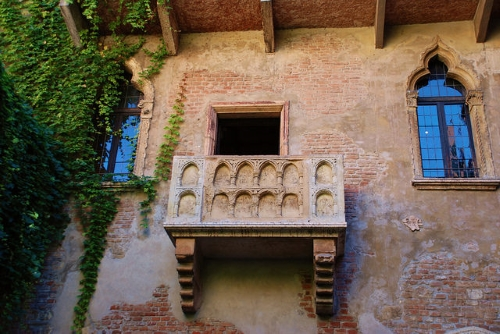 balcon de la maison de Juliette à Vérone