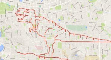 Dessiner avec son GPS, une nouvelle forme d'art ?