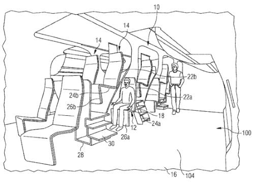 Les sièges en escalier, brevet déposé en octobre 2015