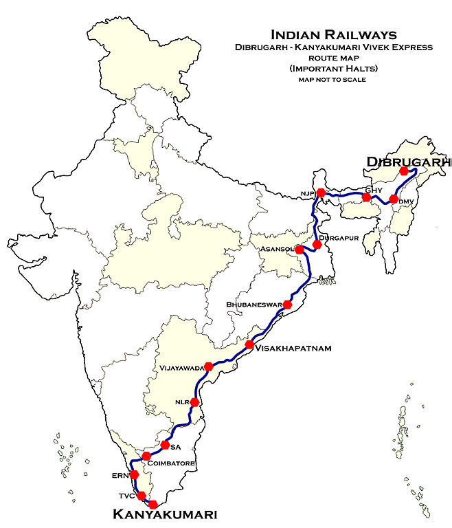 658px-Dibrugarh_-_Kanyakumari_Vivek_Express_Route_map