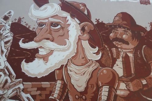 Une fresque de la rue Miguel Bombarda
