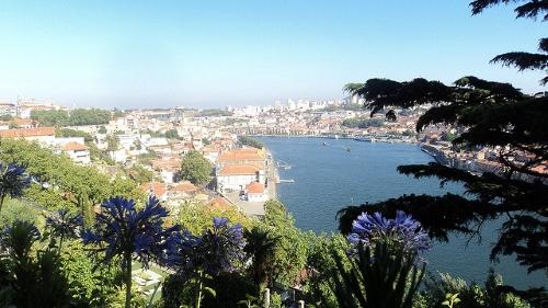 Vue de Porto depuis les jardins