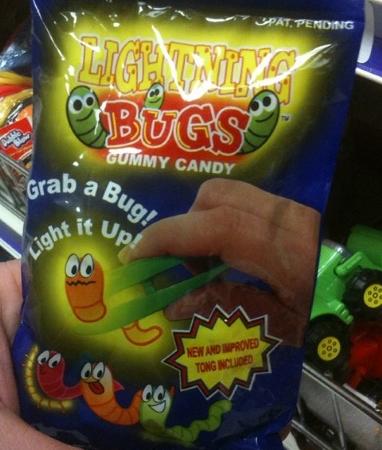 bonbons aux insectes lumineux