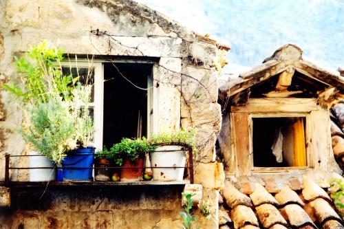 Zoom sur une maison à Dubrovnik