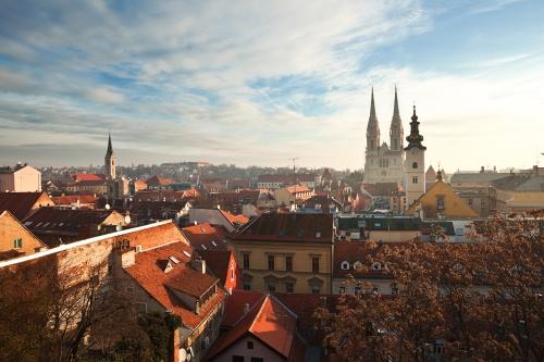 Zagreb vue du ciel