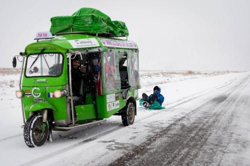 Dans les steppes du Kazakstan