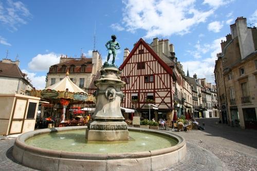 Dijon fontaine et maisons