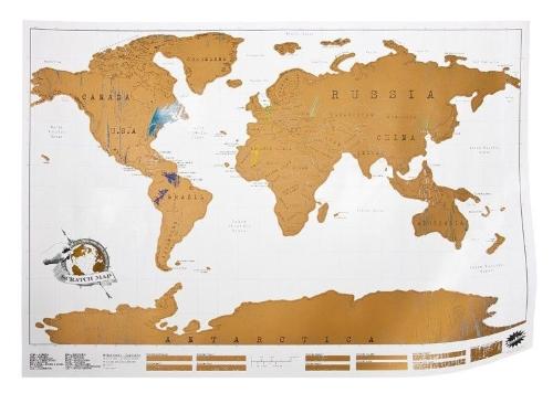 carte monde à gratter