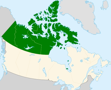 carte nord canadien