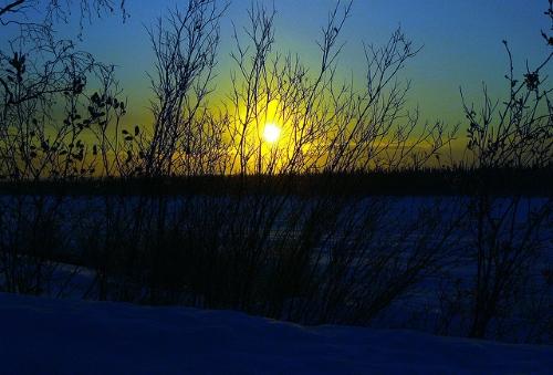 inuvik coucher soleil