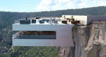 Un restaurant perché sur une falaise à 200 mètres du sol