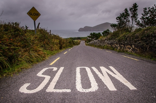 route slow down
