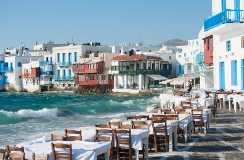 Mykonos - restaurant mer