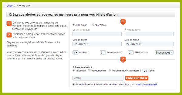 alertes prix liligo.com 1