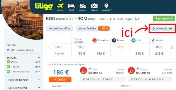 alertes prix liligo.com 2