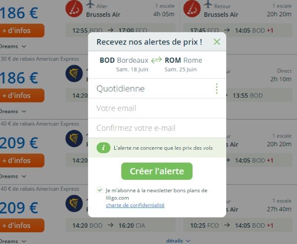 alertes prix liligo.com 3