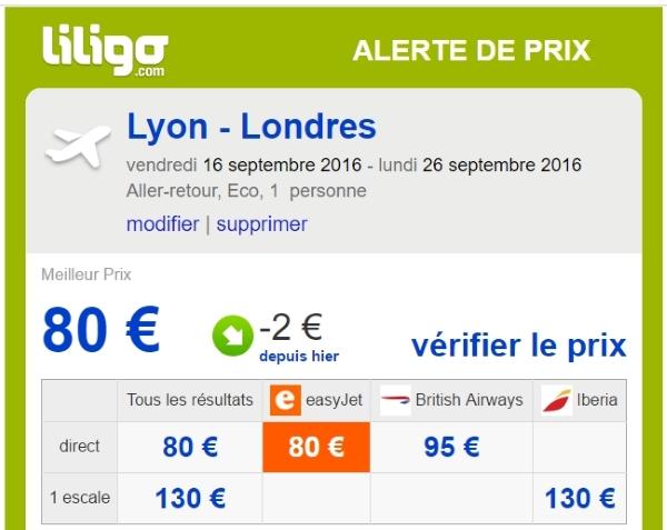 alertes prix liligo.com 4