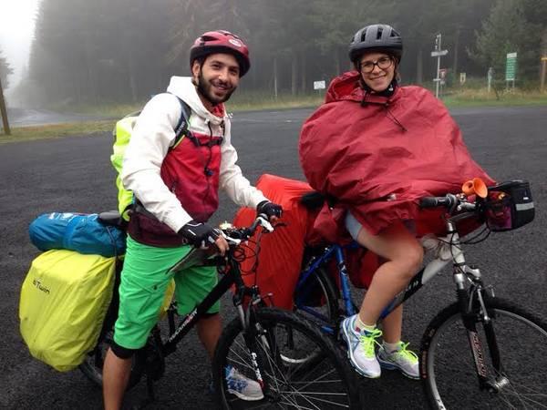 voyage vélo pluie