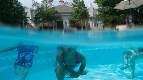 photo sous l'eau moitié