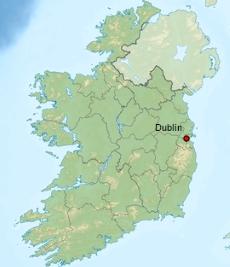 Dublin carte Irlande 2
