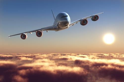 avion nuages