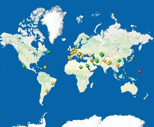 carte UNESCO
