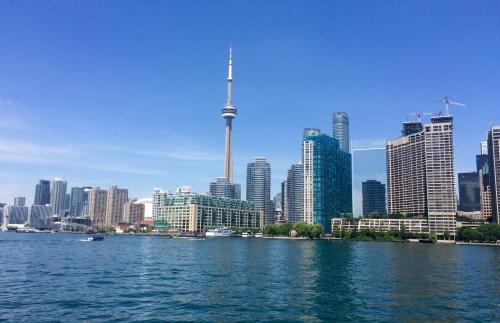 La skyline de Toronto vue des îles, je ne m'en lasse pas!