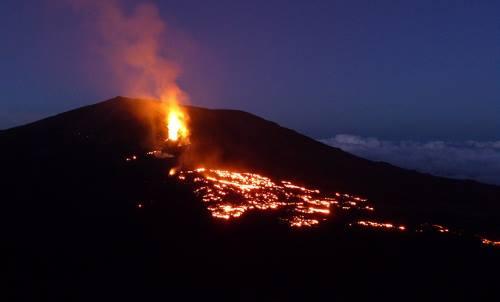 Eruption du volcan en 2015