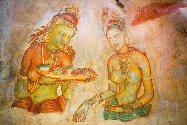 Fresques datant du règne de Kasyapa