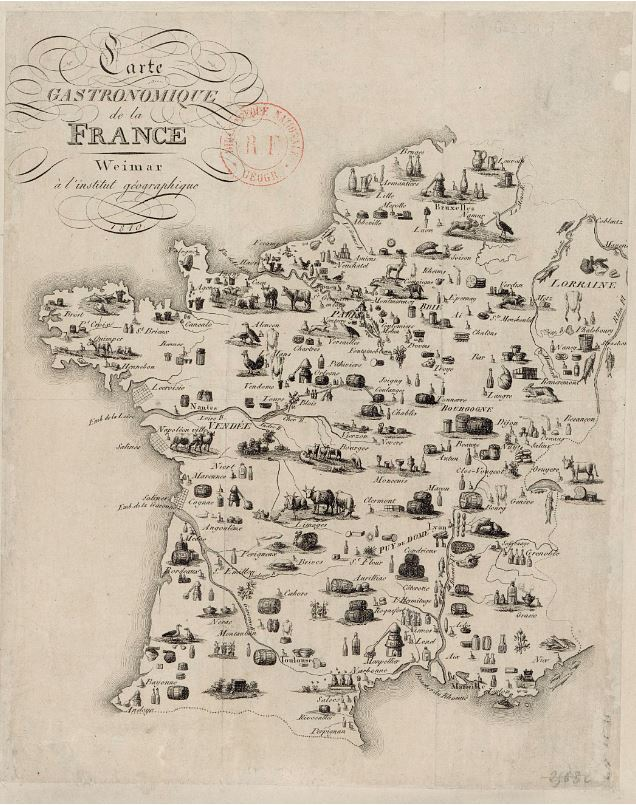 carte gastronomique de France