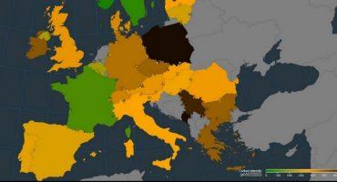 La carte européenne des émissions de CO2