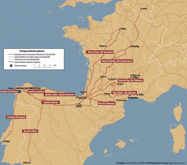 itineraires saint jacques