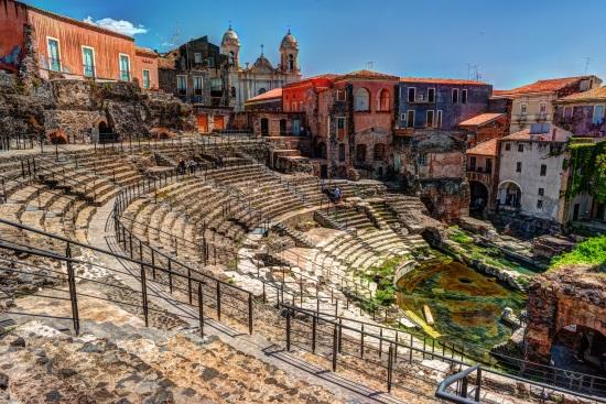 Théâtre romain de Malaga Espagne