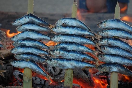 espeto de sardinas Malaga Spain