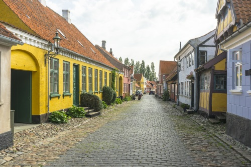 Ærøskøbing colourful street