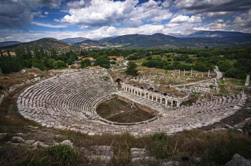 Aphrodisias théâtre Turquie