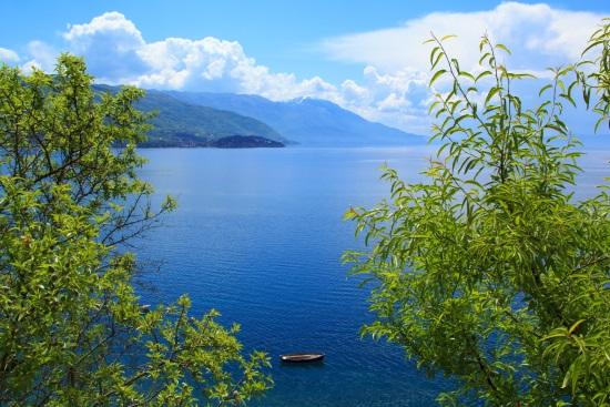 Le lac d'Ohrid Macédoine