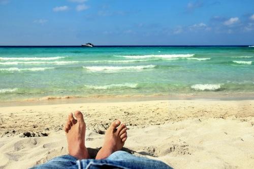 un moment à la plage