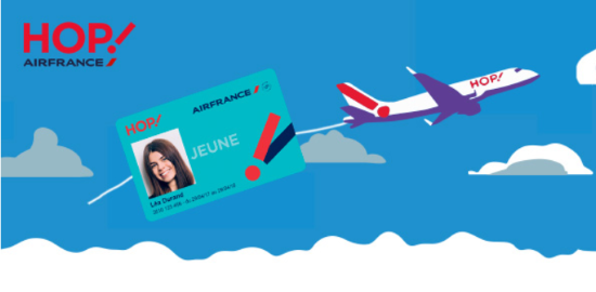 Caputure d'écran du site HOP Air France Carte Jeune