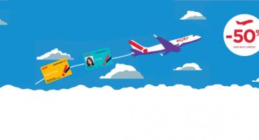 Les cartes de fidélité HOP! Air France à moitié prix !