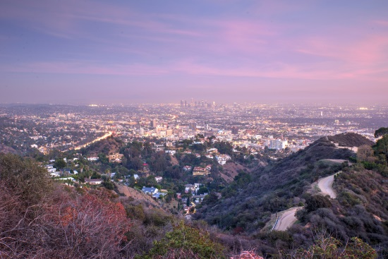 Los Angeles california runyon canyon park
