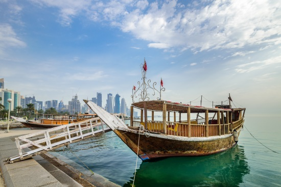 Traditional Arabic Dhow boats Qatar