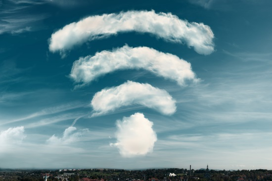 clouds shape wifi symbol