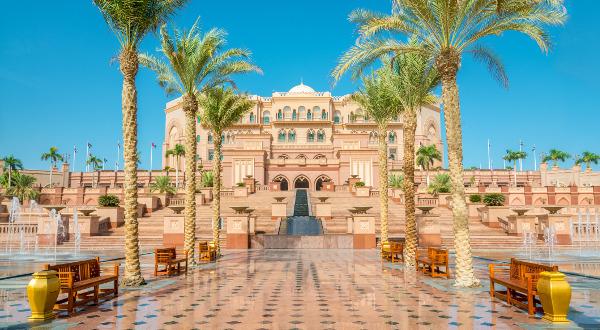 L'Emirates Palace à Abu Dhabi