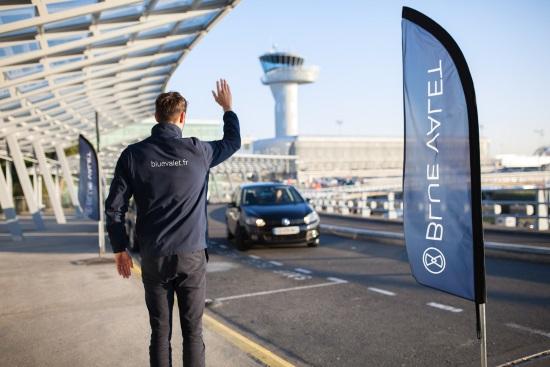Blue Valet voiturier parking des aéroports et gares
