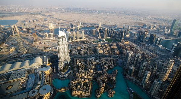 Downtown Dubai from above