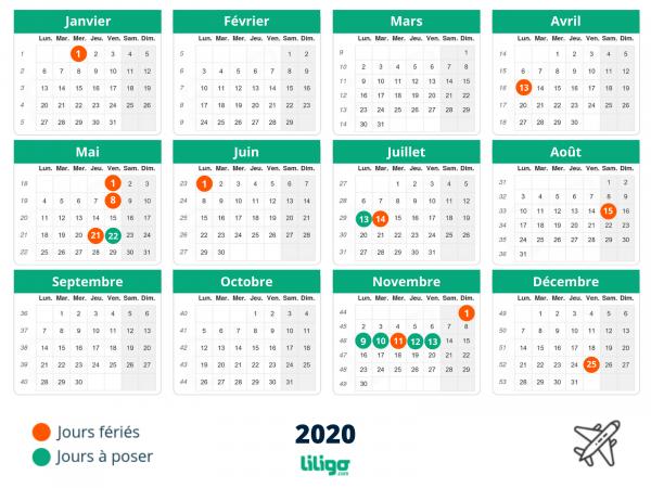 Joursfériés2020