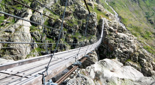 Le Trift Suspension Bridge, Suisse