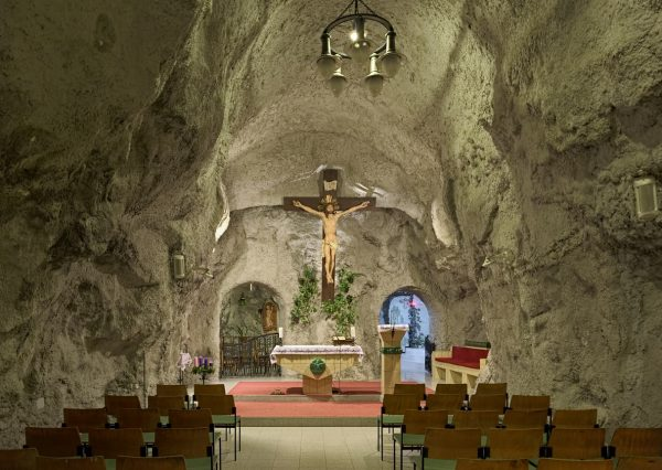 Underground cave church Budapest