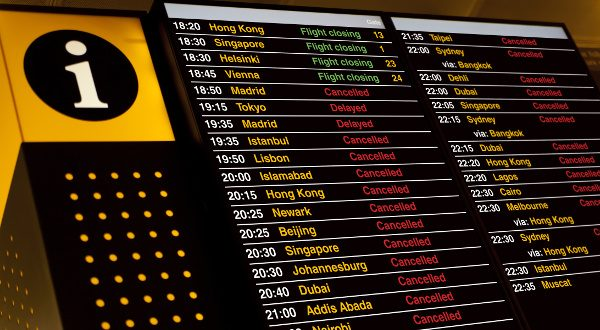 tableau d'affichage aéroport